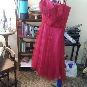 RED DRESSY DRESS, SIZE 0, BANANA REPUBLIC